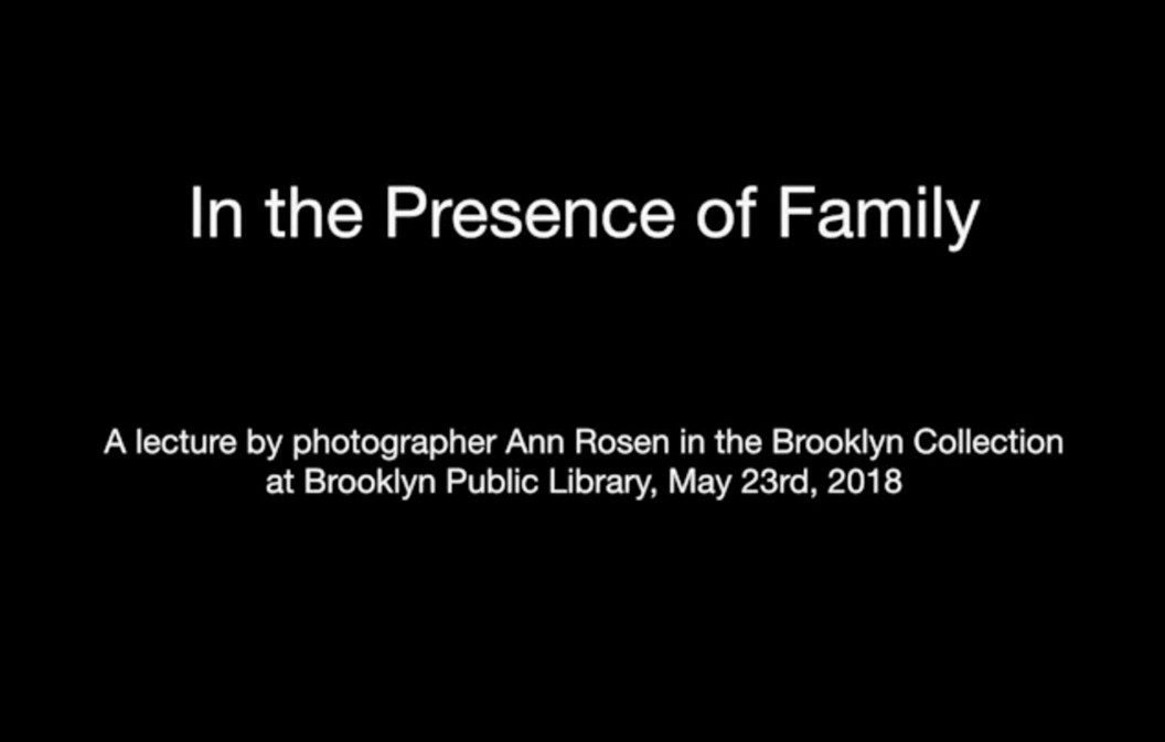 In the Presence of Family: an artist talk with ph...