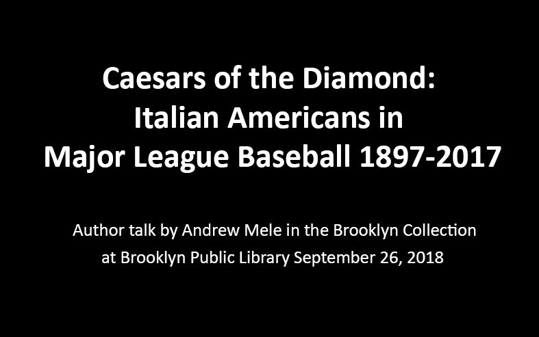 Ceasars of the Diamond: Italian Americans in Majo...